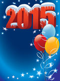 Balloons 2015. New Year decoration ready for posters and cards Royalty Free Stock Photos