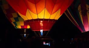 Balloons at night Royalty Free Stock Photos