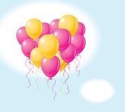 Balloons o coração Imagens de Stock Royalty Free
