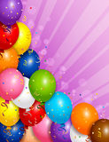 Balloons o fundo Fotografia de Stock