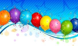 Balloons o fundo Foto de Stock Royalty Free
