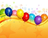 Balloons o fundo Imagens de Stock Royalty Free
