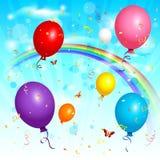 Balloons o fundo Imagem de Stock Royalty Free
