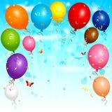 Balloons o fundo Imagem de Stock
