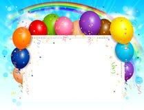 Balloons o fundo Imagens de Stock