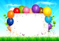 Balloons o fundo Foto de Stock