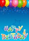 Balloons o fundo Fotografia de Stock Royalty Free