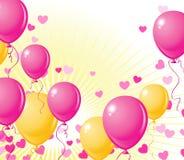 Balloons o fundo Fotos de Stock