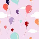 Balloons o teste padrão sem emenda Fotografia de Stock