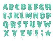 Balloons o verde do ABC Ilustração Royalty Free
