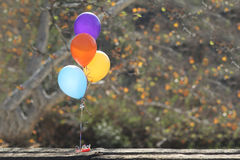 Balloons Outdoors at a Celebration with Copy Space Royalty Free Stock Image