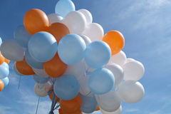 Balloons outside Royalty Free Stock Images