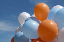 Balloons outside with blue sky Stock Photography