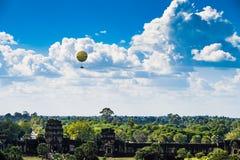Balloons over Angkor wat Stock Image
