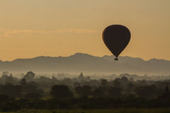 Balloons over Bagan. Myanmar - Sunrise in Bagan. Bagan is an ancient city located in the Mandalay Region of Burma (Myanmar). From the 9th to 13th centuries, the Stock Image