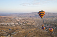 Balloons over Cappadocia Stock Photography