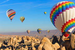 Balloons over Cappadocia. Royalty Free Stock Image
