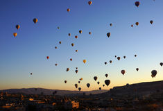 Balloons over Cappadocia Stock Photos