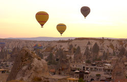 Balloons over Cappadocia Royalty Free Stock Photos