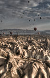 Balloons Over Cappadocia Royalty Free Stock Images