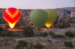 Balloons over Cappadocia Turkey Stock Photo
