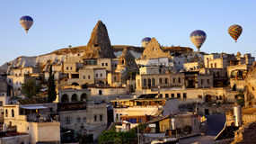 Balloons over Goreme Royalty Free Stock Images