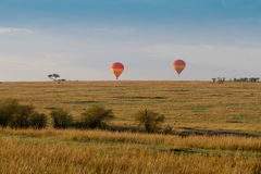 Balloons over the masai mara Royalty Free Stock Photos