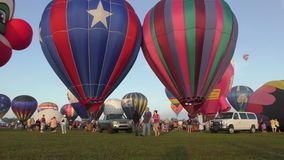 Balloons over Paradise event in Immokalee FL stock video footage