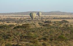 Balloons over the Serengeti Royalty Free Stock Image