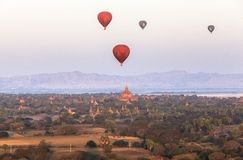Free Balloons Over Tempels Bagan At Sunrise Stock Photos - 110920513