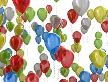 Balloons party background Royalty Free Stock Photo