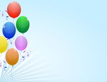 Balloons party frame Stock Photography