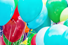 Balloons party, funny symbolic objects Stock Image