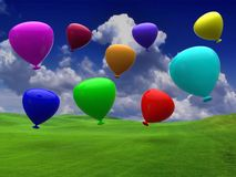 Balloons party happy birthday decoration Royalty Free Stock Images