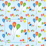 Balloons party seamless vector Royalty Free Stock Photography