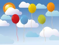 Balloons for party vector Stock Image