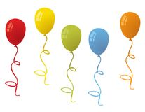 Balloons for party vector Stock Photo
