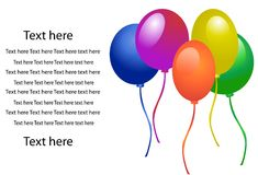 Balloons for party vector Royalty Free Stock Photography