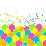 Balloons party white background Royalty Free Stock Photos