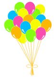 Balloons party white background Royalty Free Stock Photo
