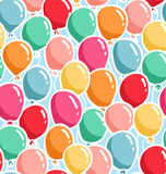 Balloons pattern Stock Image