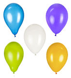 Balloons. Photo on the white background Stock Photos