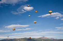 Balloons and Pikes Peak Royalty Free Stock Photo
