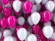 Balloons pink and white Royalty Free Stock Photos
