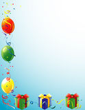 Balloons and Present border royalty free illustration