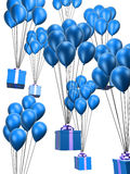 Balloons and presents Stock Photography