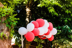 Balloons On A Public Park Stock Image