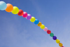 Balloons rainbow Stock Image