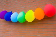 Balloons of rainbow colors Royalty Free Stock Photo