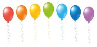 Balloons rainbow vector Royalty Free Stock Photos